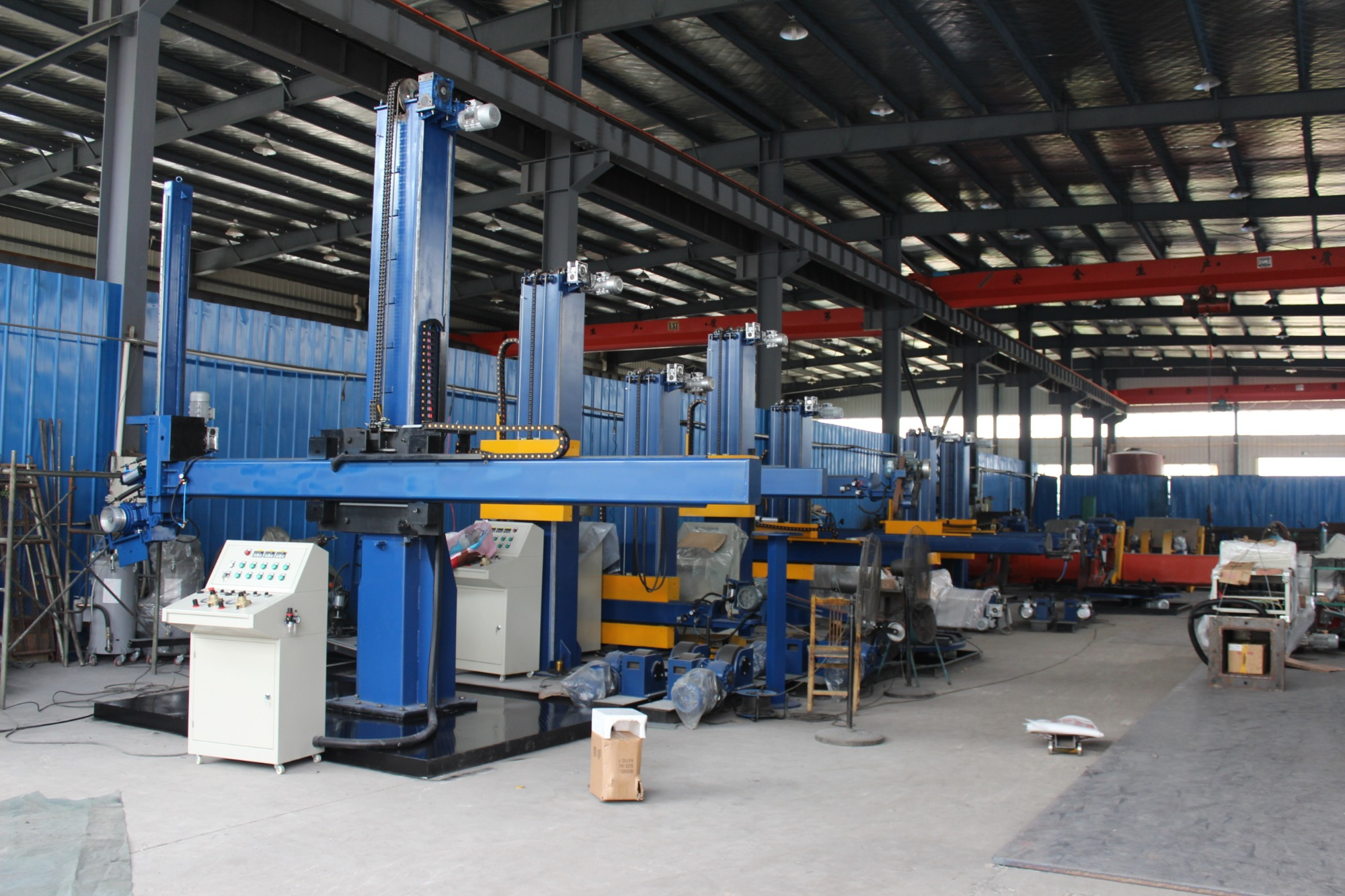 Stainless steel dish end surface grinding buffing machine
