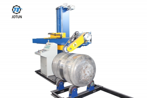 Automatic stainless steel polishing machine for tanks and vessels
