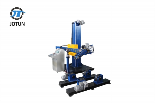 Buffing machine for tank